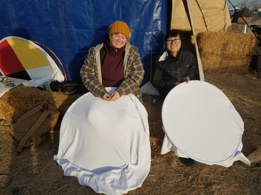 Meet Frankie and Yi Yi at Standing Rock